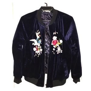 Velour Embroidered Jacket